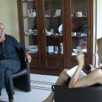 UN MOMENTO DELL'INTERVISTA DI SABRINA PIERAGOSTINI A ROBERT BAUVAL
