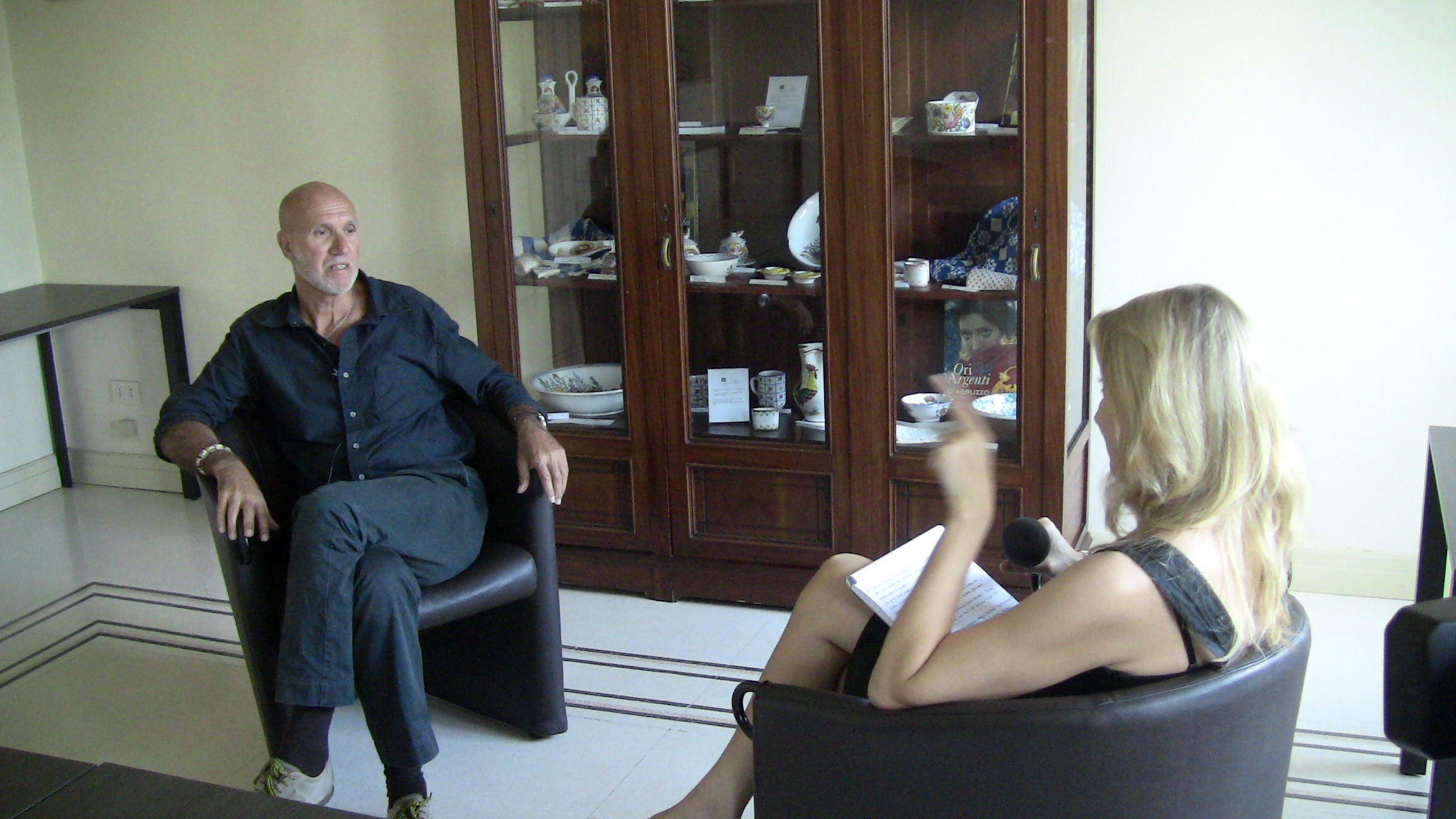 Un momento dell'intervista