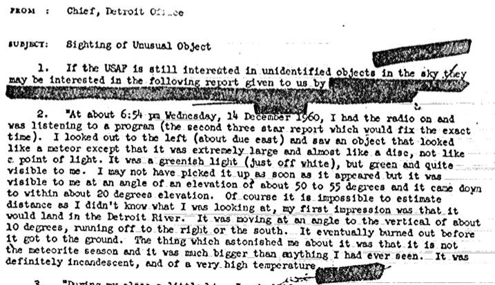 Uno dei documenti della Cia pubblicati online