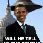Un fotomontaggio con Obama e un Ufo...