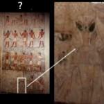 Una singolare riproduzione artistica egizia....