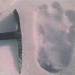 Un'enorme orma di un piede, trovata sull'Himalaya