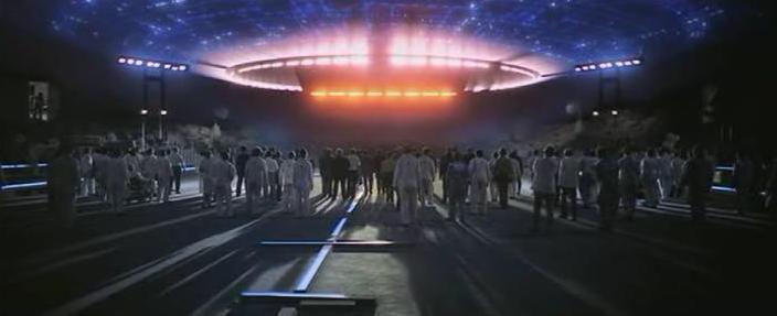 """L'astronave aliena nel film di Spielberg """"Incontri ravvicinati del 3° tipo"""""""