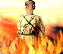 1431: LA PULZELLA D'ORLEANS E' ARSA SUL ROGO