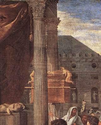 N. POUSSIN. 1650, LA PESTE D'ASROD. PARTICOLARE DELL'ARCA.