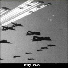 1945: LUCI MISTERIOSE VICINO AD AEREI DA GUERRA IN VOLO NEI CIELI ITALIANI