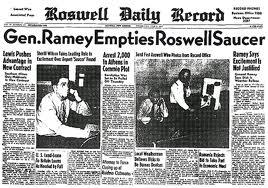 Il caso Roswell sui giornali dell'epoca