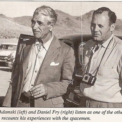 I DUE CONTATTISTI AMERICANI GEORGE ADAMSKY  E DANIEL FRY