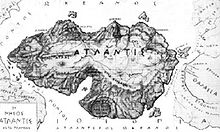 UN'ANTICIA MAPPA DI ATLANTIDE