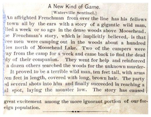 L'ARTICOLO PUBBLICATO SU UN GIORNALE AMERICANO NEL 1886