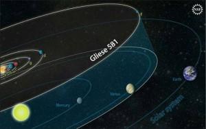 ECCO COME SI IMMAGINAVA IL SISTEMA SOLARE DI GLIESE 581