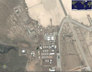 UN'IMMAGINE SATELLITARE DELL'AREA 51