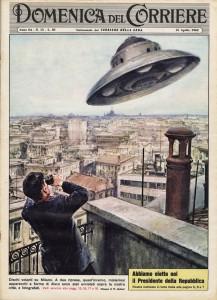 """UN UFO D'EPOCA SULLA """"DOMENICA DEL CORRIERE"""""""