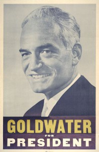 BARRY GOLDWATER IN UN POSTER PER LE PRESIDENZIALI