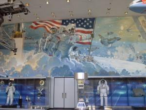 UN MURALE DIPINTO AL JOHNSON SPACE CENTRE DELLA NASA
