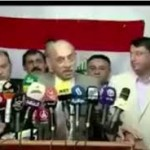 IL MINISTRO IRACHENO IN CONFERENZA STAMPA