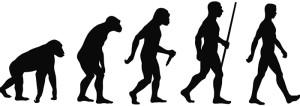 LA CLASSICA RAFFIGURAZIONE DELL'EVOLUZIONE UMANA