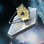UNA RAPPRESENTAZIONE ARTISTICA DEL JAMES WEBB SPACE TELESCOPE