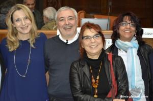 ALBERTO NEGRI, CON SABRINA PIERAGOSTINI, SYUSY BLADY E LAURA GROPPI