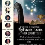 """LA LOCANDINA DEL PROSSIMO """"FIGLI DELLE STELLE"""" DEL 19 OTTOBRE 2019"""
