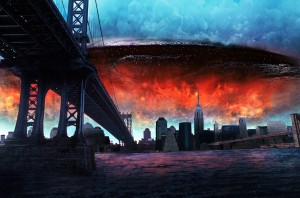 "UN'IMMAGINE-SIMBOLO DAL FILM ""INDEPENDENCE DAY"""