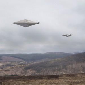 UNA RICOSTRUZIONE DELL'UFO FOTOGRAFATO A CALVINE