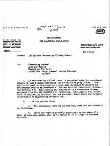 IL DOCUMENTO REDATTO NEL 1947 DAL GENERALE TWINING SUGLI UFO