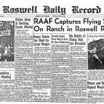 UN GIORNALE DEL LUGLIO 1947 TITOLA SUL RITROVAMENTO DI UN UFO